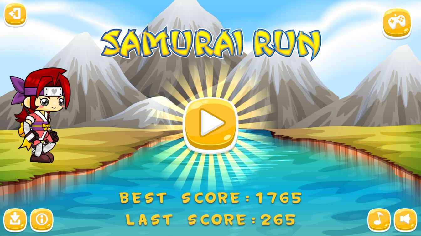 Samurai Run HTML5 Game + Android