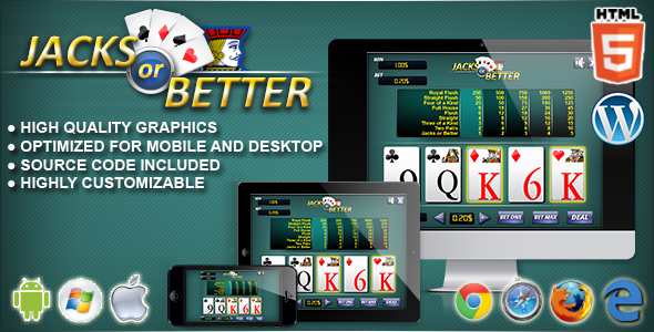 Video Poker Jacks or Better - HTML5 Casino Game
